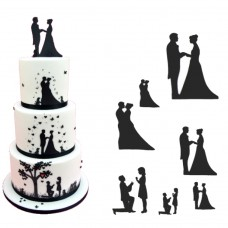 Wedding Silhouette Cutter Set by Patchwork Cutters