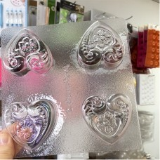 Floral Heart Cookie Mold (Oreo)