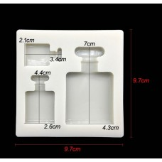 3D Perfume Bottle Silicone Mold  (3 Sizes)