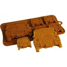 Silicone Moulds for 4+1 Mini Car Chocolate Collection