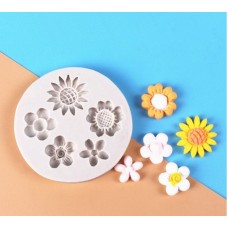 Assorted Mini Flowers Silicone Mold (5 designs)