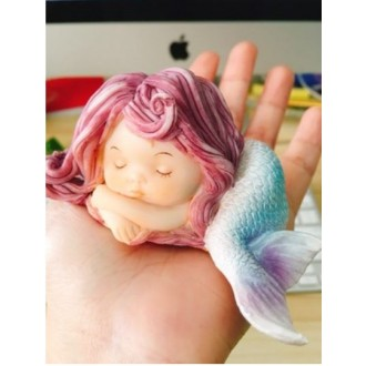Baby Mermaid Silicone Mold 1