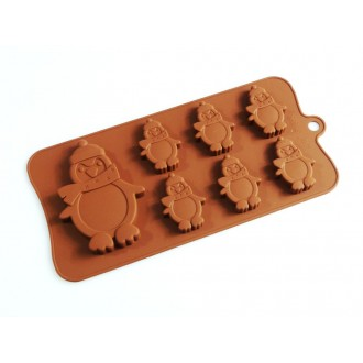 Silicone Moulds for 6+1 Penguins Chocolate Collection
