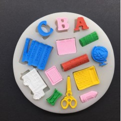 Back to School Silicone Mold
