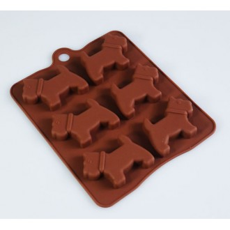 Silicone Molds 6 Little Scottie / Scotty Dogs