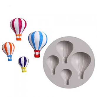 Hot Air Balloon Silicone Mold (4 sizes)