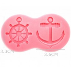 Anchor and Boat Wheel Silicone Mold