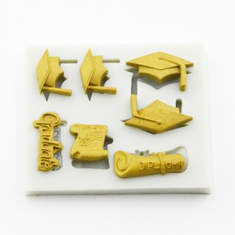 Graduation Themed Silicone Mold