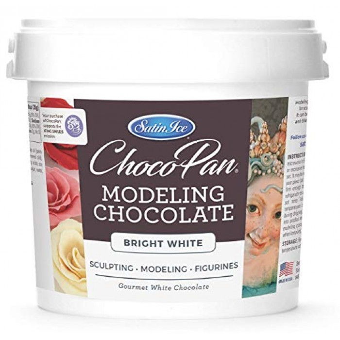 Satin ice Choco-Pan Sculpting/Modeling Chocolate Bright White (5 Lbs) Pick Up Only