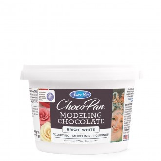 Satin Ice Choco-Pan Sculpting/Modeling Chocolate Bright White  (1Lbs)