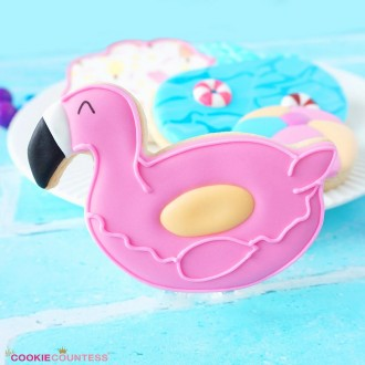 """Flamingo Pool Float 3.75"""" Cookie Cutter"""