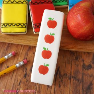 Cookie Stick Stencil - Apples