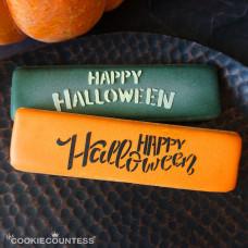 Cookie Stick Stencil- Happy Halloween 2 Fonts Stencil