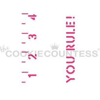 Cookie Stick Stencil - You Rule