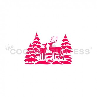 Deer Winter Scenery stencil