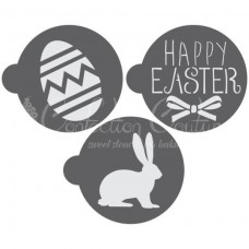 Easter Round Cookie Stencil 3 Pc Set (1 Inch) Oreo and Macaron