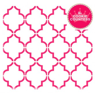 Large Quatrefoil mini stencil