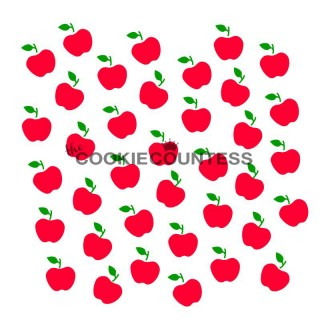 2 Piece Apple Set Stencil