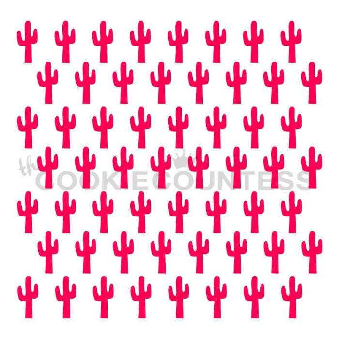 Cactus Repeat Stencil