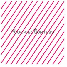 Diagonal Thin Stripes Stencil 2