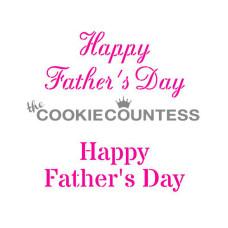 Happy Father's Day Stencil