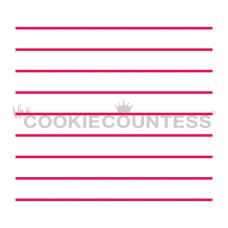 Notebook Stripes Stencil