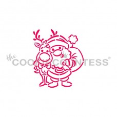 Drawn with character - Santa and Rudolph PYO