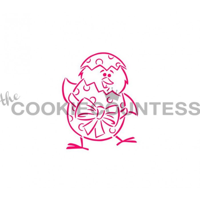 Drawn with character - Chick and Egg Stencil PYO