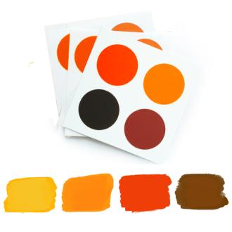 PYO Paint Palettes - Fall Colors (12 per Pouch)