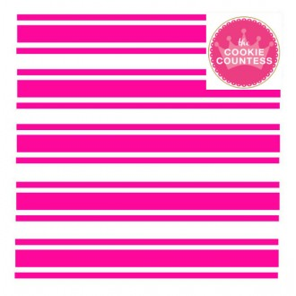 Preppy Stripes stencil