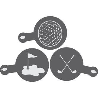 Golf Cookie/Barista Stencil 3 Piece Set
