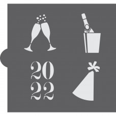 New Years Eve Accent Cookie Stencil 2022