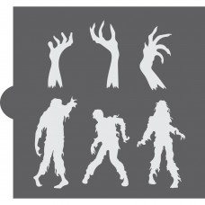 Zombies Accents Cookie Stencil