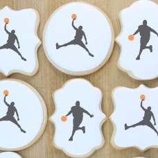 Basketball Players Cookie Stencil