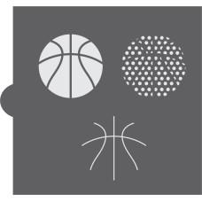 Basketball Cookie Stencil