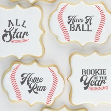 Baseball Messages Cookie Stencil