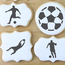 Soccer Players Cookie Stencil
