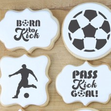 Soccer Messages Cookie Stencil