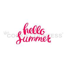 Hello Summer Stencil
