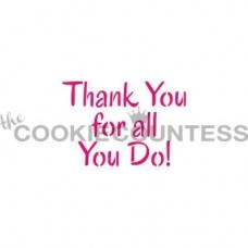Thank You For All You Do Stencil