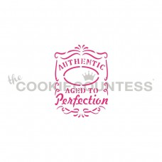 Aged to Perfection Whiskey Label Stencil