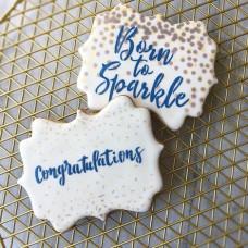 Confetti & Congratulations 2 Piece Stencil