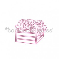 Drawn with character - Fresh Flower Crate  PYO Stencil