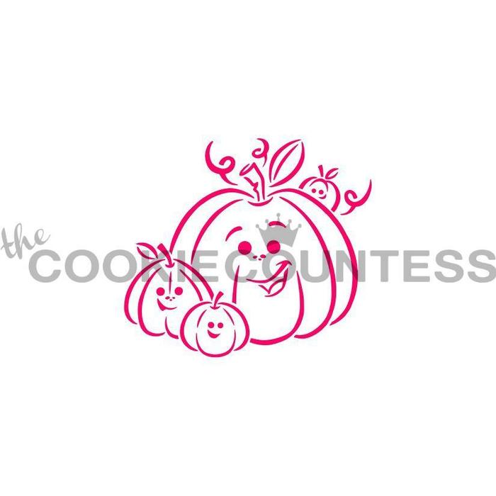 Drawn with character -  Pumpkin Family PYO Stencil