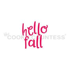 Hello Fall Stencil