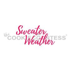 Sweater Weather Stencil