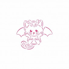 Cat Bat PYO Stencil