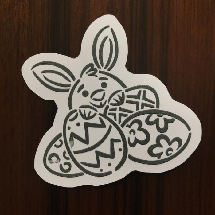 Drawn with character - Bunny Behind Eggs