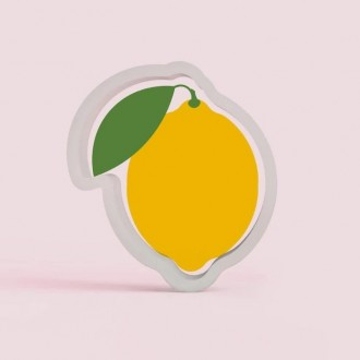 Lemon with Leaf 3.75 Cookie Cutter