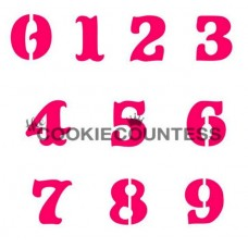 Monogram Collection Numbers Stencil